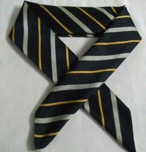 Mens Vintage Cravat Scarf Rolled Club Striped Vintage Retro Silk 1960s 1970s