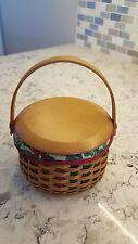 Longaberger 2003 Christmas Melody Tree Trimming Basket Liner, Lid, Protector Com
