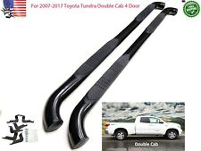 "For 2007-2017 Toyota Tundra Double Cab 3"" Running Board Round Side Step Nerf Bar"
