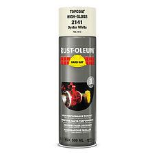 x9 Industriale Rust-Oleum Oyster Bianco Vernice Spray Cappello Rigido 500ml RAL