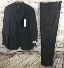 Mens Emanuel Ungaro Charcoal Gray Athletic Fit Two Piece Suit Tall 44