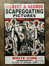 hand signed GILBERT AND GEORGE 'BODY POPPERS'/ Scapegoating Pictures White Cube