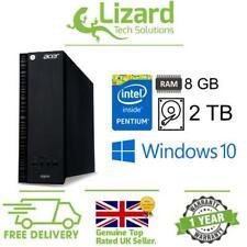 ACER Aspire XC-704 ITX Pentium J3710 2TB 8GB Windows 10 Mini Desktop PC Computer