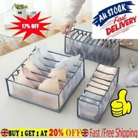 Foldable Underwear Storage Box Compartment Underpants Organizer Hot! Bra G8I0