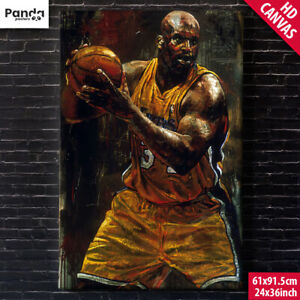 Shaquille O'Neal Canvas Poster (60x90cm/24x36in) SHAQ LA LAKERS Basketball Print