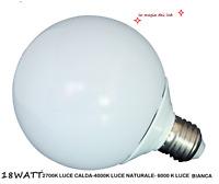 LAMPADA LED GLOBO E27 A SFERA 18W LUCE 2700K 4000 K 6000 K ALTA LUMINOSITA'