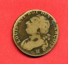 (REV.09) LOUIS XVI 12 DENIERS 1792 H (LA ROCHELLE) TB