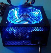 SHARK 1200W Quiet Blue LED Fan 2x PCIe 6-SATA Gaming PC ATX/EPS 12V Power Supply