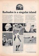 1964 Barbados PRINT AD is a Singular Island Great Vintage Ad Frame it!