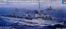 German Zerstorser Z-43 1944 Kit Trumpeter 1 700 Tr05789