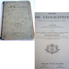 ATLAS DE GEOGRAPHIE PAR L.DUSSIEUX ECOLE SAINT CYR 1872