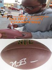 MONTEE BALL,DENVER BRONCOS,WISCONSIN,SIGNED,AUTOGRAPHED,NFL FOOTBALL,COA,PROOF