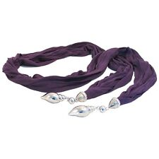 Jewel Scarf Shells - Purple