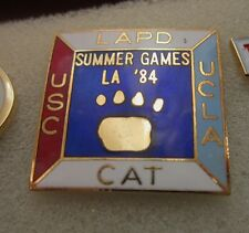 1984 LOS ANGELES Olympics LAPD LOS ANGELES POLICE DEPT USC UCLA PIN BADGE