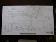 INDIAN Frame Blueprint Drawing poster print of antique Motorcycle part cheif vtg