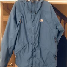 The North Face Mens Gore Tex Blue Soft Shell Zip Up Jacket Size L Large