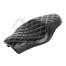 Black Driver Rear Passenger Seat Two up for Harley Davidson Sportster XL883 1200
