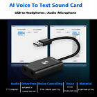 Intelligent Input AI Voice to Text Translator USB External Sound Card Adapter
