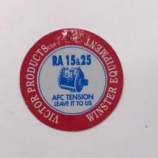 Vintage Victor Products Winster Equipment Coal Mining Helmet Decal Sticker