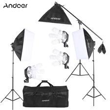 Professional Photography Studio Lighting Photo 3*Softbox 12* Bulb Stand Kit T7G5