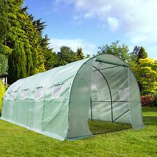 Patio Heavy Duty Walk In Plastic Green House Cover Kit Plant Garden 20'x9'x7'