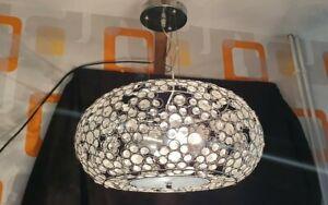 LARGE ROUND DUAL LAMP CEILING LIGHT PENDANT