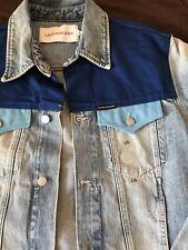 NWT Calvin Klein CK denim jacket color block Mohonk light blue Size Large $150