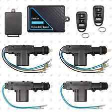 Remote Keyless Entry System + 4 Door Power Lock Heavy Duty Actuator Motor Kit