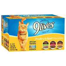9 Lives Wet Canned Cat Food Variety Packs