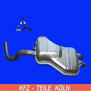 1.6 Petrol 2000-06-/> 2010-09 EXHAUST SILENCER VW NEW BEETLE 9C1, 1C1