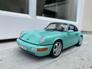 1:18 Porsche 911 (964) Carrera 4 Mint Green 1990 GT Spirit GT019C
