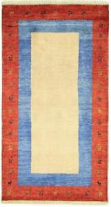 Perser Gabbeh Loribaft 150x81 Orientteppich Teppich Läufer Handgeknüpft