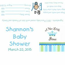 Baby Shower Little Prince Candy Bar Wrappers/Baby Shower Favors- It's a Boy!