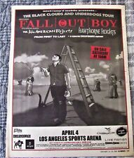 FALL OUT BOY 2006 Original Newspaper Concert ALL AMERICAN REJECTS Tour Ad Poster