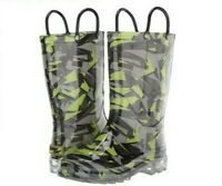 NEW WESTERN CHIEF SCATTER CAMO LIGHT UP RAIN BOOTS KIDS YOUTH TODDLER FREE SHIP