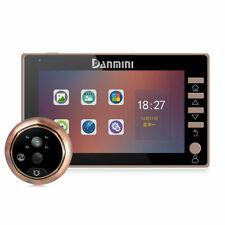Intercom 4.5'' Color Screen Door Bell Peephole Viewer 3MP Camera 170° Motion IR