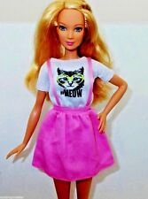 BARBIE CLOTHES FASHIONISTAS #MEOW KITTY TEE JUMPER DRESS ALSO FITS TALL DOLL