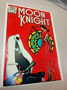 Moon Knight #24 (1982) Sienkiewicz - Stained Glass Scarlet negative space cover!