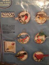 Paragon Snip N Stuff Christmas Ornaments Kit Wild Birds 6715 Set Of 6 Stitched