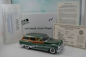Terrace Green 1953 Buick Roadmaster Woody Estate Wagon Danbury Mint 1:24