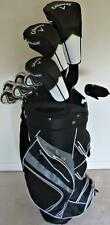 Mens Callaway Complete Golf Set Driver, Wood, Hybrid, Irons Putter Cart Bag Reg