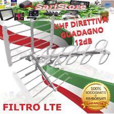 ANTENNA DIGITALE TERRESTRE TETTO TERRAZZO 11 ELEMENTI FILTRO LTE UHF 12dB 32db