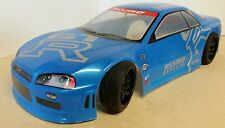 1/10 RC car 190mm on road drift Nissan GTR Body Shell w/spoilers Blue