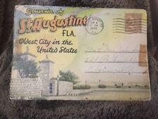 Vintage Postcard Folder Posted 1945 St Augustine Florida FL