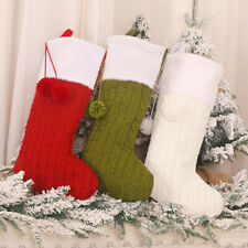 Christmas Stocking Sock Candy Gift Bag Container Tree Hanging Pendant Decor Duti