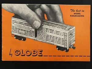 Vintage GLOBE Model Railroading Catalog 1940's Model Trains MINTY!