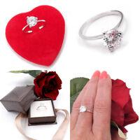 Anello da donna in oro bianco 18 kt 750 solitario fidanzamento nozze con zircone