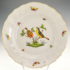 """Herend 1525/RO Rothschild Hand Painted Deep 10"""" Dinner Plate Pasta Plate (A)"""