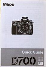 Nikon D700 English (En) Quick guide Manual