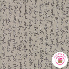 Moda FARMERS DAUGHTER Brown Writing Tonal 5052 13 Lella Boutique QUILT FABRIC